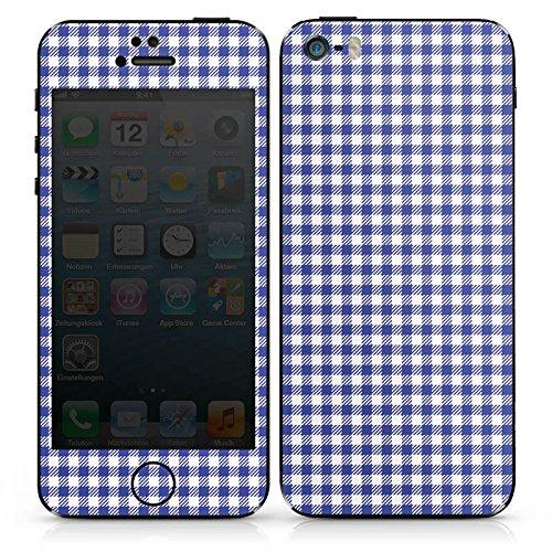 Apple iPhone SE Case Skin Sticker aus Vinyl-Folie Aufkleber Karo Picknick Oktoberfest DesignSkins® glänzend
