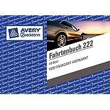 Avery Zweckform 222 Fahrtenbuch, DIN A6 quer, steuerlicher km-Nachweis, 40 Blatt, weiß