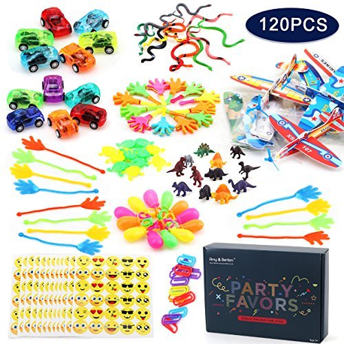 Amy & Benton 120PCS Jouet Assortiment Enfants Party Favors Fille Garçon d'anniversaire Cadeau...
