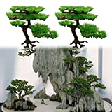 Demiawaking Künstliche Pflanze Aquarium Rockery Bonsai Hotel Ornament Deko