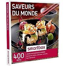 SMARTBOX - Coffret Cadeau - SAVEURS DU MONDE - 400 repas : restaurants italiens, asiatiques, marocains
