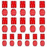 Feelones Pack de 16 Pegatinas Adhesivas de Almohadillas Planas y Almohadillas Curvas de Doble Cara de Monturas para GoPro Hero 3 3+ 4 5 SJ4000 5000 6000 DBPOWER VicTsing APEMAN Campark Sony Sports DV