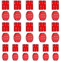 Feelones 16-Paires Adhésif Plat et Courbé Double Face de Casque Montage pour GoPro Hero 3 3+ 4 5 SJ4000 5000 6000 DBPOWER AKASO VicTsing APEMAN WiMiUS Rollei Campark Sony Sports DV et plus