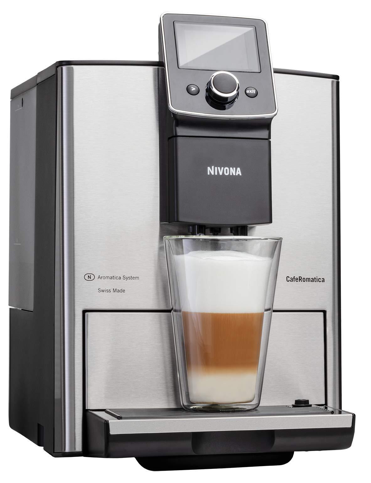 NIVONA-NICR-825-CafeRomatica-Kaffeevollautomat-15-bar-silber-ECO-Modus