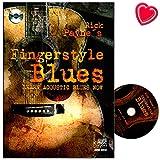 Mit Fingerstyle Blues führt Rick Payne den Anfänger auf denkbar einfache und äußerst effektive Weise in den Blues ein: Learn acoustic blues now ! - Lehrbuch mit CD und bunter herzförmiger Notenklammer