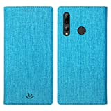 Simicoo Huawei P Smart Plus 2019 Leder Tasche Flip Schutzhülle Standfunktion Kartenfach Magnetverschluß Card Holder TPU Wallet Handyhülle für P Smart 2019 Nova 4 lite (Blue)