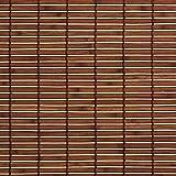 Liedeco Rollo Holz mit Seitenzug, Holzrollo für Fenster und Tür braun B 100 cm x L 17...