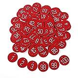 Anladia 1-100 numeriert Kennzeichnungsmarken Textmarken Zahlenmarken Schlüsselmarken