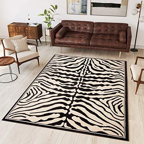 Tapiso® Alfombra Colección Atlas | Salón Piso Cuarto De Estar | Color Negro | Diseño Decorativo...