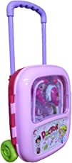 Emob Light and Sound Effects Doctor Play Set with Durable Suitcase for Kids, Pink