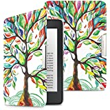 MoKo Case for Kindle Paperwhite, Premium Ultra Lightweight Shell Cover with Auto Wake / Sleep for Amazon All-New Kindle Paperwhite (Fits All 2012, 2013 and 2015 Versions), Lucky Tree