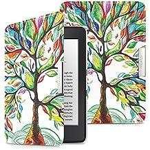 MoKo Kindle Paperwhite Funda - Premium Ultra Ligera ( Auto - Sueño / Estela ) Lightweight Shell Cover Case para Amazon All-New Kindle Paperwhite (Apta 2012, 2013, 2015 y 2016 Versiones), Árbol de Suerte