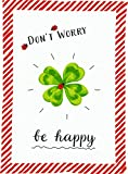 "Torchon ""DonŽt worry - be happy!"" 50 x 70 cm..."