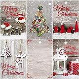 25 Geschenkanhänger Weihnachten, 52 x 74 mm / 5 nostalgische Motive je 5 St. Weihnachtsanhänger, Anhänger, Geschenkkarten, Anhängeetiketten, Anhängeschilder für Geschenke von EDITION COLIBRI (Set 1)
