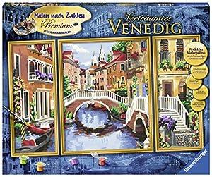 Ravensburger Verträumtes Venedig Kit de Pintura por números - Libros y páginas para Colorear (Kit de Pintura por números, 3 páginas, Niño, Niño/niña, 14 año(s), 80 cm)
