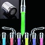 Colorful LED Su Musluk LED duş Chuveiro su musluk 7renk renkli ışık değiştirebilir Glow Stream musluk püskürtme Head...