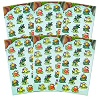 Frog Stickers Party Supplies Pack -- Over 120 Glitter Frogs Stickers (6 Party Favor Sheets) by Frog Stickers