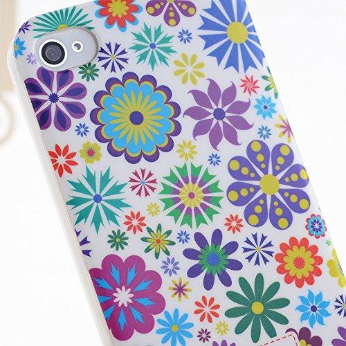 iPhone Case Cover Farbe Malerei Kleine Blumen-harten Plastikkasten-Abdeckung für iPhone 4 4S ( Color : 9 ) 9