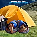 Mountaineers Outdoor Sleeping Bag, 4 Season, XL Pillow Pocket & Water Resistant Outer Shell - Including Foot Zipper… 9