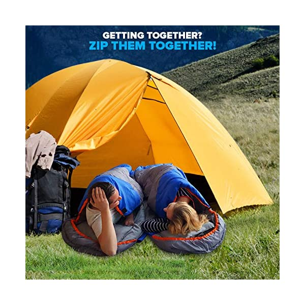 Mountaineers Outdoor Sleeping Bag, 4 Season, XL Pillow Pocket & Water Resistant Outer Shell - Including Foot Zipper… 2