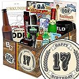 Geschenk zum 17. | Männergeschenke | Geschenke 17 Jahrestag | mit Held der Arbeit Flaschenöffner, Kondome, Bier und mehr