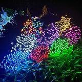 Hihey LED Fairy Lights 8 modalità Solar Fairy Lights Esterni Impermeabili per Decorazioni Natalizie Compleanno Matrimonio Soggiorno Nursery