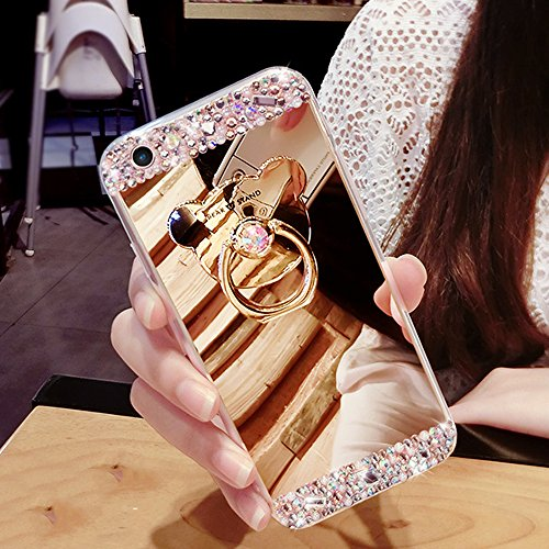 SunnyJenny Diamante TPU Gel Silicone Protettivo Skin Custodia Protettiva Shell Case Cover Per Apple iPhone 6/ 6S/6p dorato