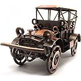 Escomdp métal Antique Vintage Car Modèle Décor Décoration de maison artisanale Handcrafted collections Collectible voiture Jo