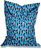 Patchhome Sitzsack und Sitzkissen Camouflage Eckig - Blau - 145x100cm in 5 Farben und 7 versch. Größen