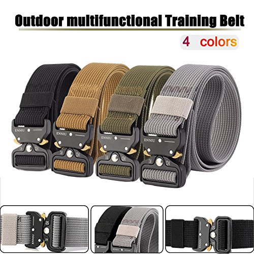 xluckx - Cinturón táctico militar de nailon para hombre, multifuncional, para entrenamiento...