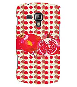 Fuson 3D Printed Fruit Designer back case cover for Samsung Galaxy S Duos S7562 - D4460