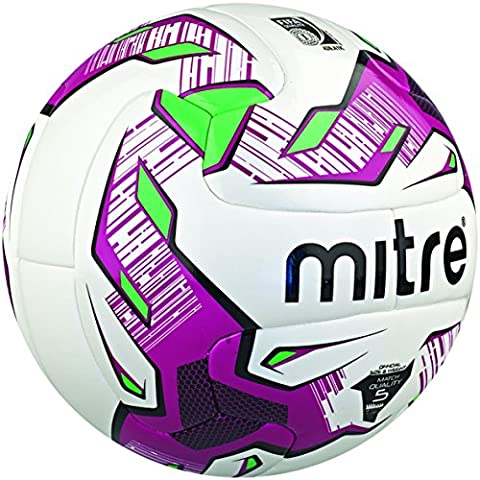 Mitre Manto V12S Match FIFA Inspected Ball - White/Purple/Black - 5