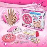 EQLEF® Mädchen-Nagelaufkleber DIY scherzt Spielwaren für Kinder PVC-Maniküre-Aufkleber für Nagel bilden Schmucksache-Geburtstag-Weihnachtsgeschenk-Spielwaren des gesetzten Mädchens