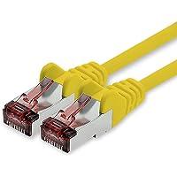 Netzwerkkabel Cat.6 7,5m gelb - 1 x Ethernetkabel Lankabel Cat6 LAN Netzwerk Kabel Sftp Pimf Patchkabel 1000 Mbit s