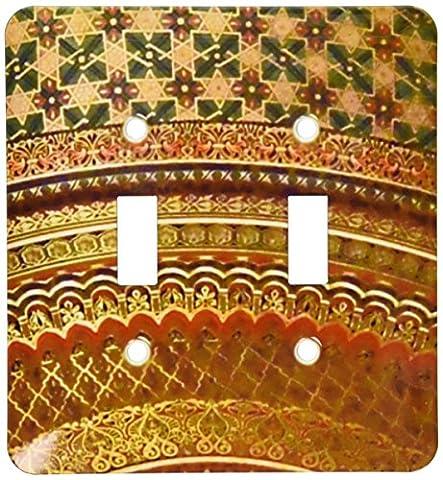 3dRose lsp_155664_2 Gold-Look Stripe Pattern with Magen David Stars Matte