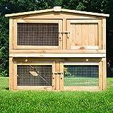 """ZooPrimus Kleintier-Stall Nr 02 Kaninchen-Käfig """"OBELIX"""" Meerschweinchen-Haus für Außenbereich (Breite 100cm, Tiefe 52cm, Höhe 92cm, geeignet für Kleintiere: Hasen, Kaninchen, Meerschweinchen usw.)"""