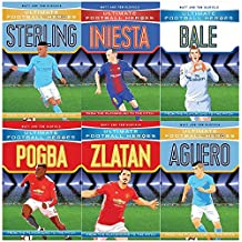Ultimate Football Heroes Football Collection Series 3 and 4: 6 Books Bundles Giftset( Collect Them All -Sterling,Iniesta,Bale,Pogba,Zlatan,Aguero)
