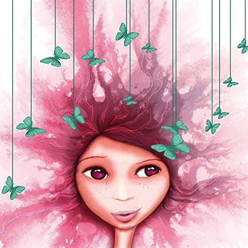 Apple iPhone 5s Housse Étui Protection Coque Fille Papillon Rose Violet Étui en cuir gris