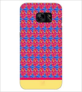 PrintDhaba Typography D-1915 Back Case Cover for SAMSUNG GALAXY S7 (Multi-Coloured)