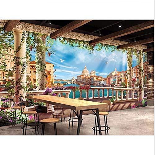 Wmbz foto murale personalizzato 3d carta da parati europea città d'acqua scenario decorazione della stanza pittura 3d murales carta da parati per parete 3d-400x280cm