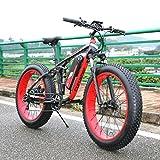 """1000W 48V 13A Vélo Tout Terrain électrique Extrbici VTT électrique à Vente Limitée Mondiale Support de Charge USB avec Suspension Complète et Tableau des Codes & Gros Pneu 26"""""""