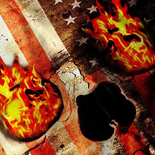 Schädel Rock Flagge Tod USA Skelett UNS Damen S-2XL Muskelshirt | Wellcoda Weiß