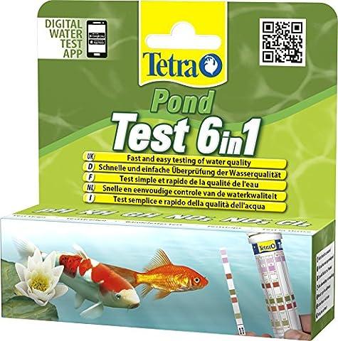 TETRA Pond Test 6in1 - Bandelettes de Tests de l'Eau