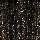 ERGEOB 400 LED 2meter*2meter Vorhang-Licht LED Gardine Licht warmweiß