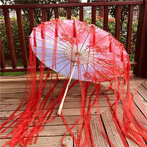 Ombrelli per decorazioni nozze ombrello fatto a mano fiore antico vento nappa streamer ombrello fotografia fotografia puntelli ombrello mostra decorazione ombrello olio di carta ombrello danza ombre