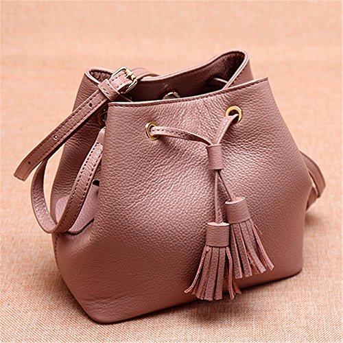 Womens Soft Borsette in pelle multicolor borsa a tracolla borse da viaggio,verde Rosa