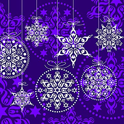 20 Servietten Decorations lilac - Kreise & Sterne lila /