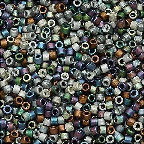 Miyuki DB-MIX24 11/0 Matte Heavy Metals 7.2g Delica Seed Beads Mix by Miyuki