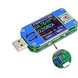 DollaTek UM25C USB voltmeter, Bluetooth typ C USB testmätare USB spänningsmätare och strömtestare, 1,4 tum 5 A färg LCD-skärm