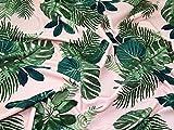 Minerva Crafts Tropical leaf print Strukturierte Stretch